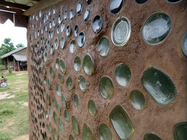 Cambodian School built with recycled glass