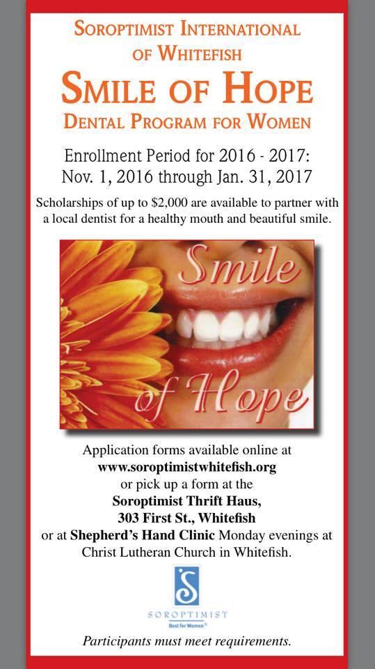 Smile of Hope - Soroptimist Whitefish